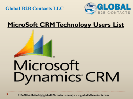 MicroSoft CRM Technology Users List