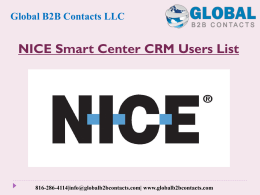NICE Smart Center CRM Users List