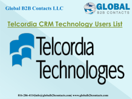 Telcordia CRM Technology Users List