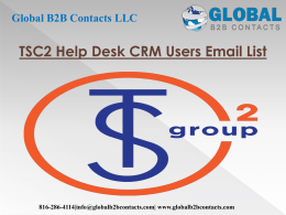 TSC2 Help Desk CRM Users Email List