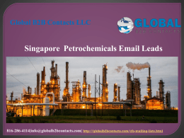 Singapore  Petrochemicals Email Leads