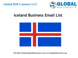 Ice land business Email List