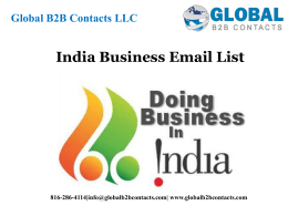 India business Email List