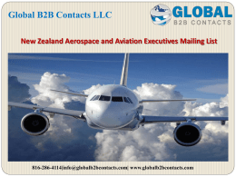 New Zealand Aerospace and Aviation Executives Mailing List