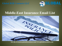 Middle-East Insurance Email List