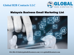 Malaysia Business Email Marketing List