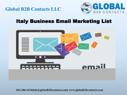Italy Business Email Marketing List