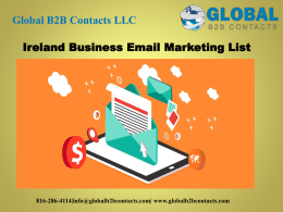Ireland Business Email Marketing List