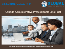 Canada Administrative Professionals Email List