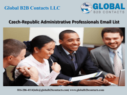Czech-Republic Administrative Professionals Email List