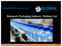 Denmark Packaging Industry Mailing List