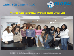 Mexico Administrative Professionals Email List