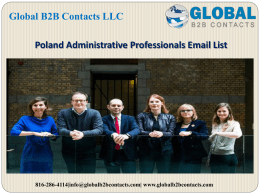 Poland Administrative Professionals Email List