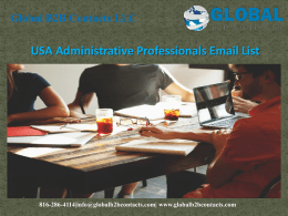 USA Administrative Professionals Email List
