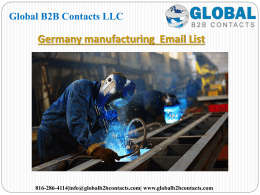 Germany manufacturing  Email List