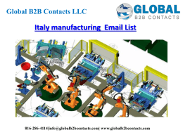 Italy manufacturing  Email List