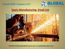 Spain Manufacturing  Email List