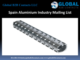 Spain Aluminium Industry Mailing List