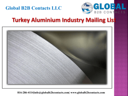 Turkey Aluminium Industry Mailing List