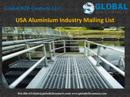 USA Aluminium Industry Mailing List