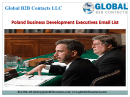 Poland Business Development Executives Email List