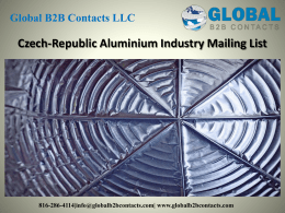 Czech-Republic Aluminium Industry Mailing List