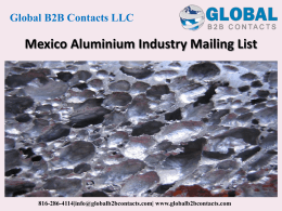 Mexico Aluminium Industry Mailing List