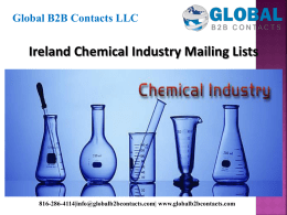 Ireland Chemical Industry Mailing Lists