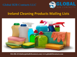 Ireland Cleaning Products Mailing Lists