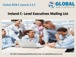 Ireland C- Level Executives Mailing List