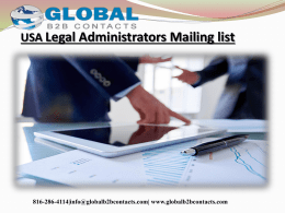USA Legal Administrators Mailing list