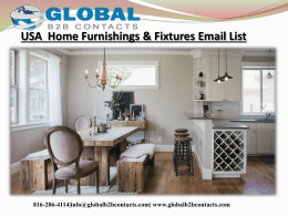 USA  Home Furnishings & Fixtures Email List