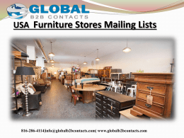 USA  Furniture Stores Mailing Lists