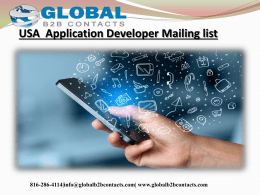 USA  Application Developer Mailing list