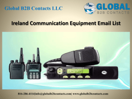 Ireland Communication Equipment Email List