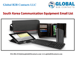 South Korea Communication Equipment Email List