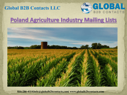 Poland Agriculture Industry Mailing Lists