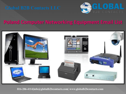 Poland Computer Networking Equipment Email List