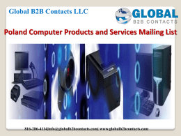 Poland Computer Products and Services Mailing List