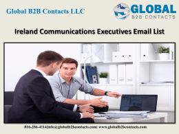 Ireland Communications Executives Email List