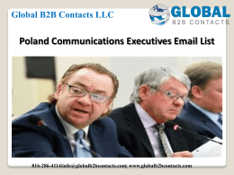 Poland Communications Executives Email List