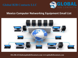 Mexico Computer Networking Equipment Email List