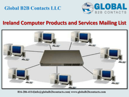 Ireland Computer Products and Services Mailing List