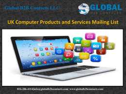 UK Computer Products and Services Mailing List