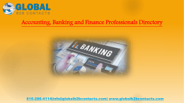 Accounting, Banking and Finance Professionals Directory