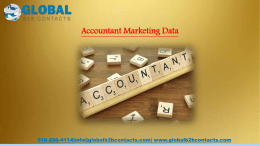 Accountant Marketing Data