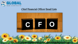 Chief Financial Officer Email Lists