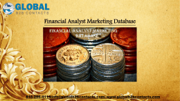 Financial Analyst Marketing Database