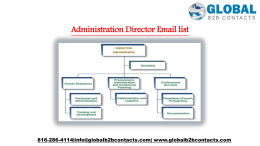 Administration Director Email list