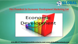 Vice President for Economic Development Marketing List